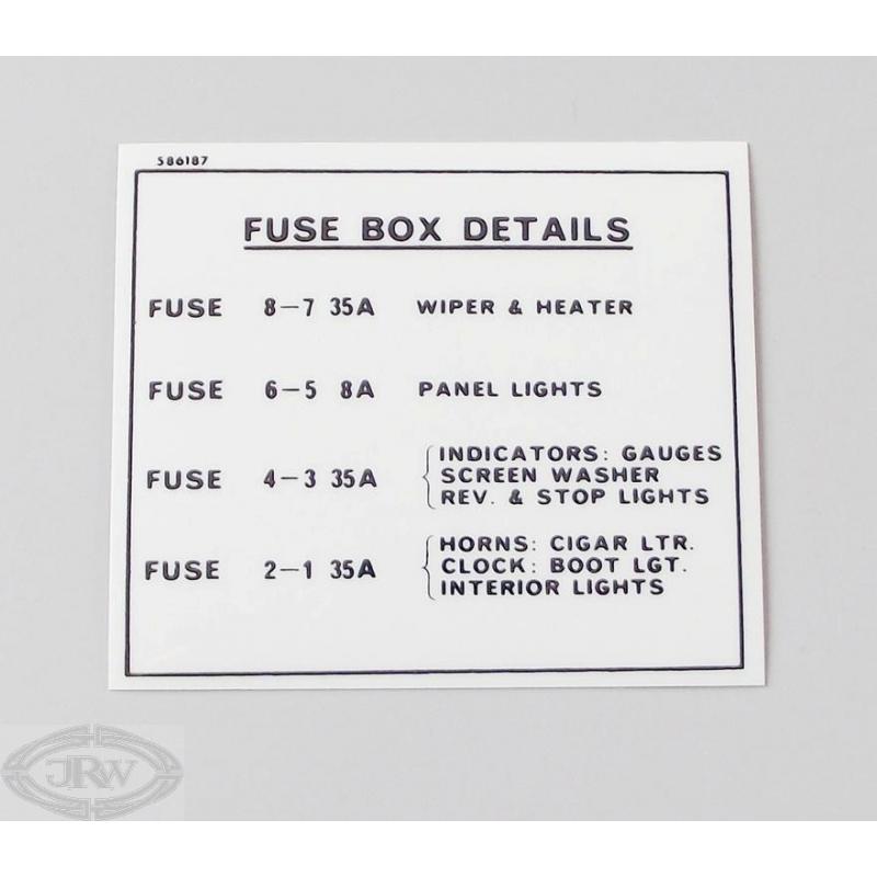 j r wadhams ltd fuse box details label rh jrwadhams co uk fuse box labeling for 2004 doge durango fuse box label for 2000 mercedes s500