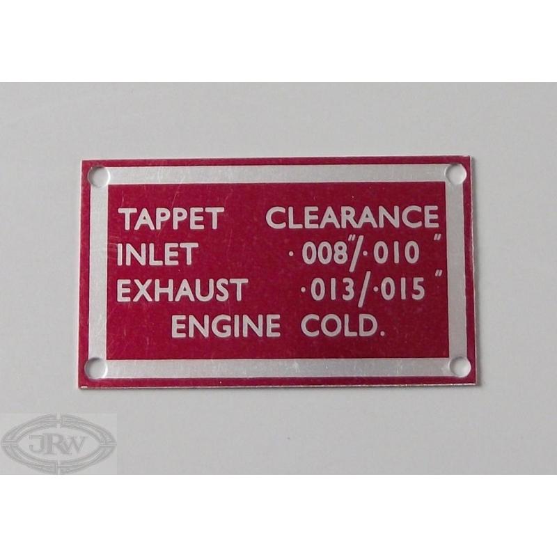 J R Wadhams Ltd | Tappet clearance plate: 2000/2200
